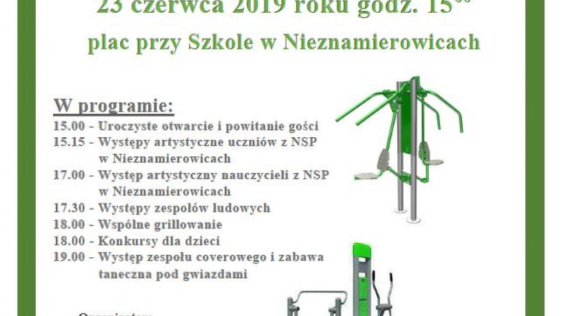 Rozwój kapitału społecznego poprzez budowę siłowni plenerowej we wsi Nieznamierowice